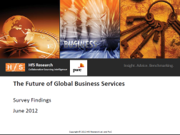 HfS PwC - The Future of Global Business Services - June 2012