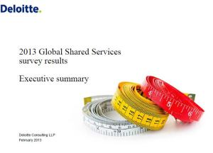 Deloitte 2013 Global Shared Services Survey Results